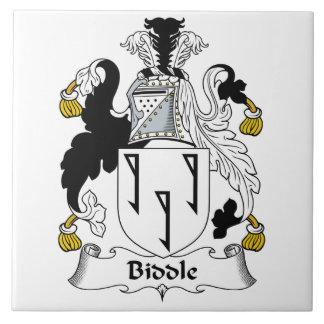 Escudo de la familia de Biddle Azulejo Cuadrado Grande