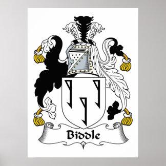 Escudo de la familia de Biddle Póster