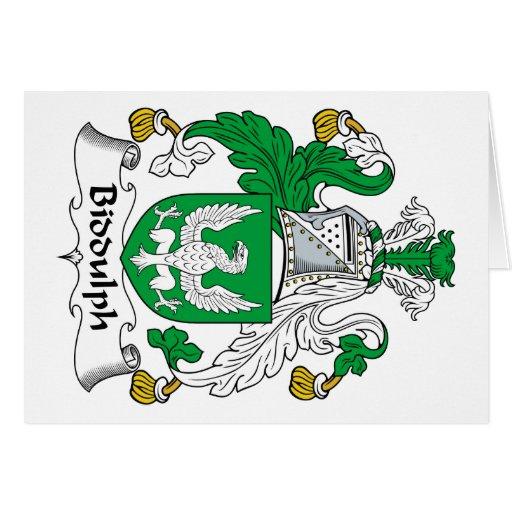 Escudo de la familia de Biddulph Felicitaciones