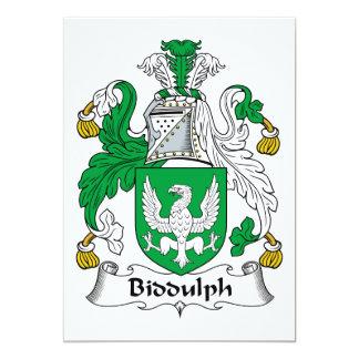 """Escudo de la familia de Biddulph Invitación 5"""" X 7"""""""