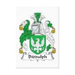 Escudo de la familia de Biddulph Lona Estirada Galerías