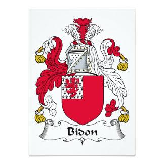 """Escudo de la familia de Bidon Invitación 5"""" X 7"""""""