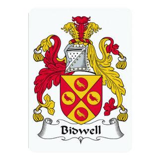 """Escudo de la familia de Bidwell Invitación 5"""" X 7"""""""