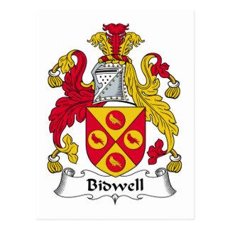 Escudo de la familia de Bidwell Tarjetas Postales