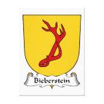 Escudo de la familia de Bieberstein Lona Envuelta Para Galerias