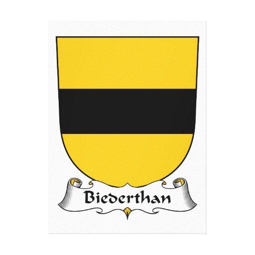 Escudo de la familia de Biederthan Lienzo Envuelto Para Galerias