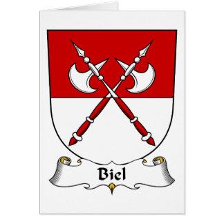 Escudo de la familia de Biel Tarjeta De Felicitación