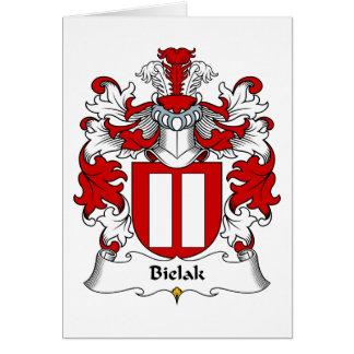 Escudo de la familia de Bielak Tarjeta De Felicitación