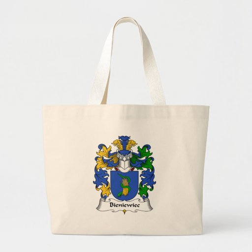 Escudo de la familia de Bieniewiec Bolsa Tela Grande
