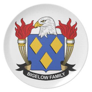 Escudo de la familia de Bigelow Platos Para Fiestas