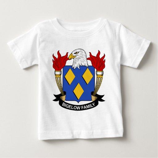 Escudo de la familia de Bigelow Playera Para Bebé