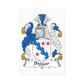 Escudo de la familia de Biggar Impresión En Lona Estirada