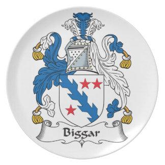 Escudo de la familia de Biggar Plato