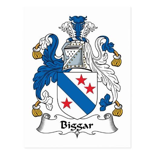 Escudo de la familia de Biggar Postal