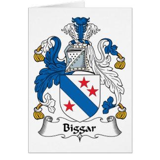 Escudo de la familia de Biggar Tarjetón