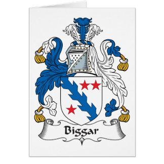Escudo de la familia de Biggar Felicitacion