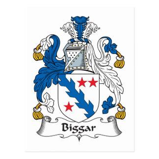 Escudo de la familia de Biggar Tarjetas Postales