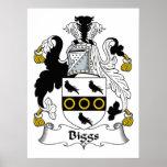 Escudo de la familia de Biggs Posters