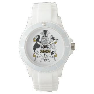 Escudo de la familia de Biggs Reloj