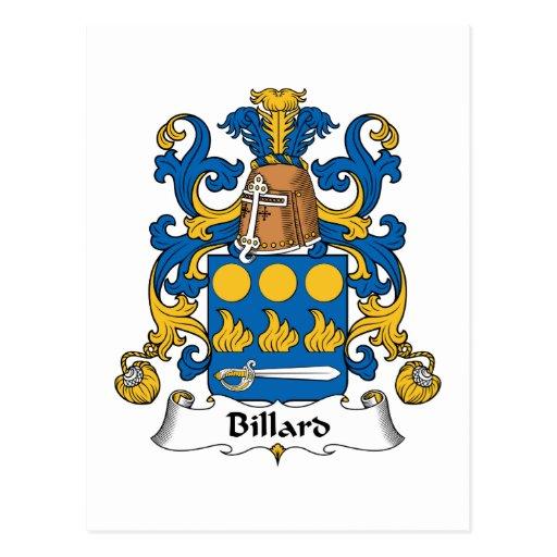 Escudo de la familia de Billard Postal