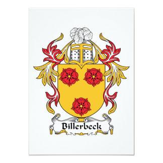 """Escudo de la familia de Billerbeck Invitación 5"""" X 7"""""""