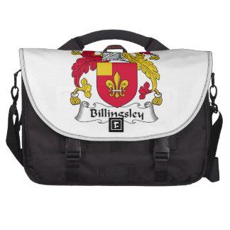 Escudo de la familia de Billingsley Bolsas Para Portatil