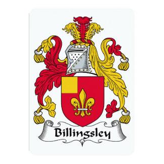 """Escudo de la familia de Billingsley Invitación 5"""" X 7"""""""