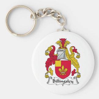 Escudo de la familia de Billingsley Llavero Personalizado