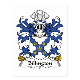 Escudo de la familia de Billington Postales