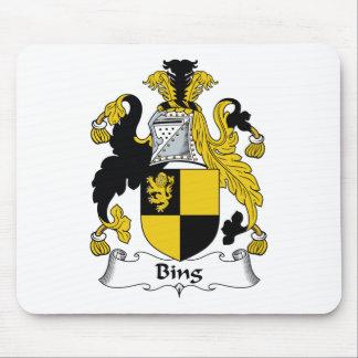 Escudo de la familia de Bing Alfombrilla De Ratón