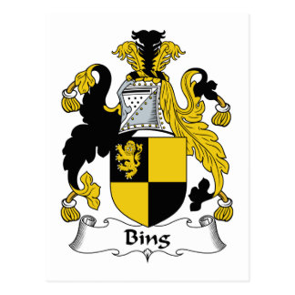 Escudo de la familia de Bing Tarjetas Postales