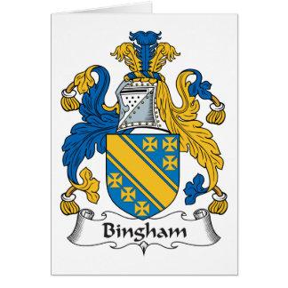 Escudo de la familia de Bingham Tarjeta De Felicitación