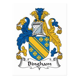 Escudo de la familia de Bingham Tarjetas Postales