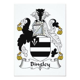 """Escudo de la familia de Bingley Invitación 5"""" X 7"""""""