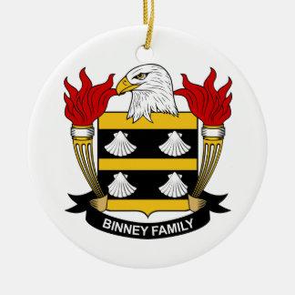 Escudo de la familia de Binney Ornamentos De Navidad