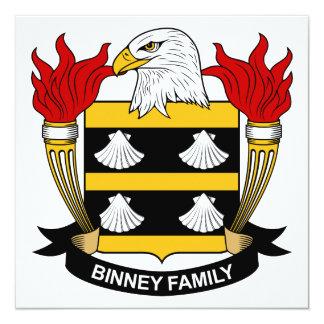 Escudo de la familia de Binney Invitación Personalizada