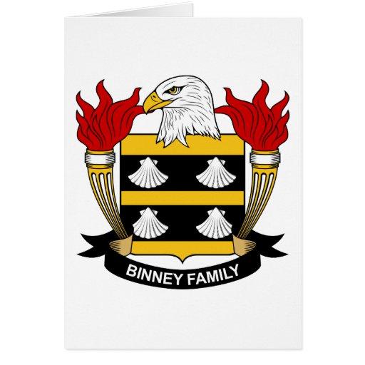 Escudo de la familia de Binney Tarjeta