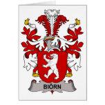Escudo de la familia de Biorn Felicitación