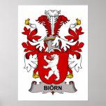 Escudo de la familia de Biorn Poster