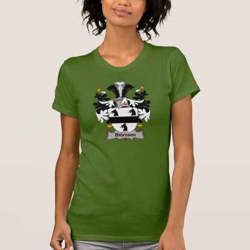 Escudo de la familia de Biornsen Camisetas