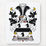 Escudo de la familia de Biornsen Tapetes De Raton