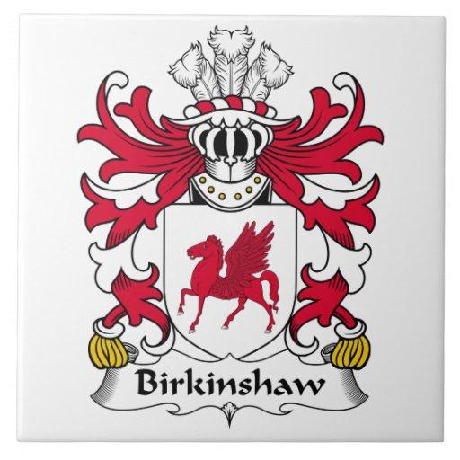 Escudo de la familia de Birkinshaw Azulejo Ceramica