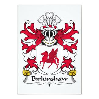 """Escudo de la familia de Birkinshaw Invitación 5"""" X 7"""""""