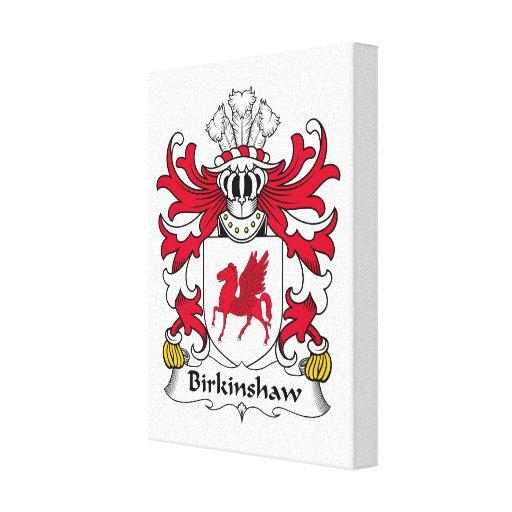 Escudo de la familia de Birkinshaw Lona Envuelta Para Galerias