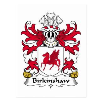 Escudo de la familia de Birkinshaw Tarjeta Postal