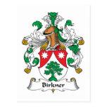 Escudo de la familia de Birkner Postal