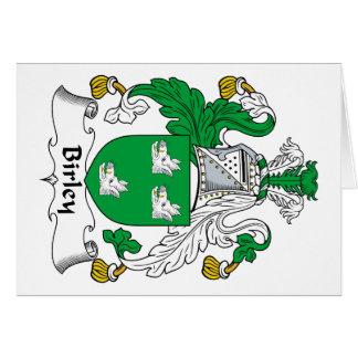 Escudo de la familia de Birley Tarjeton