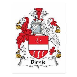 Escudo de la familia de Birnie Postales