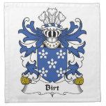 Escudo de la familia de Birt Servilletas Imprimidas
