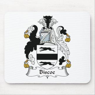 Escudo de la familia de Biscoe Mousepads